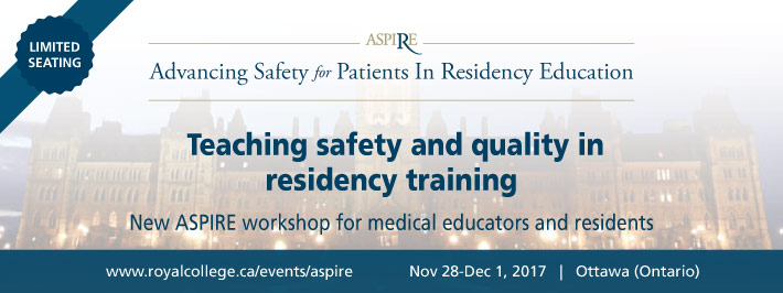 Advancing Safety for Patients in Residency Education