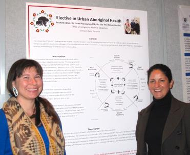 Dr. Richardson and Rochelle Allan presented a poster about the Elective in Urban Aboriginal Health at the Canadian Conference on Medical Education.