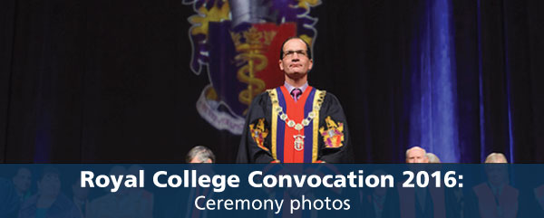 Royal College Convocation 2016: Ceremony photos
