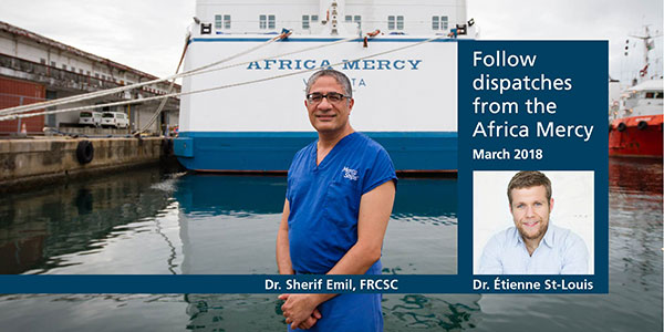 Follow dispatches from the Africa Mercy