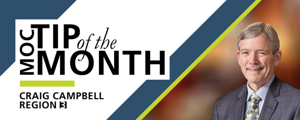 MOC Tip of the Month - By Craig Campbell