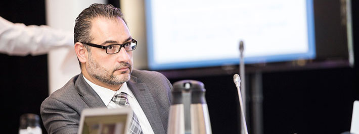 RAC 3 member Khalid Azzam, MBBS, FACP, from Hamilton, Ont., at the 2015 RAC Summit.