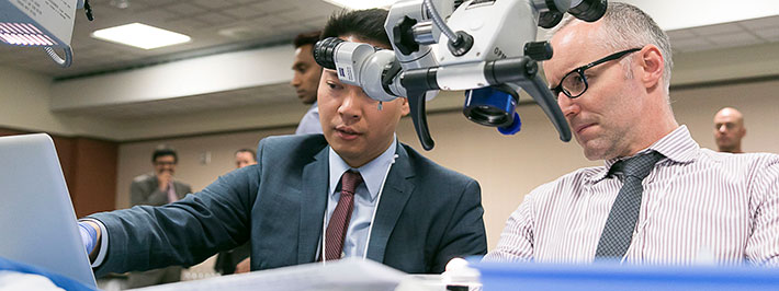 "An ""eye"" for innovation:  COS leads the way for hands-on skills-training for docs at every stage of their careers. Photo Credit: Heath Moffatt"