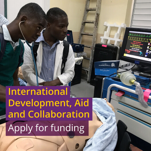 International development, aid and collaboration: apply for funding