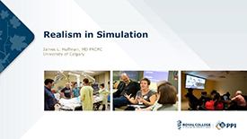 Realism in Simulation by Dr. James L. Huffman