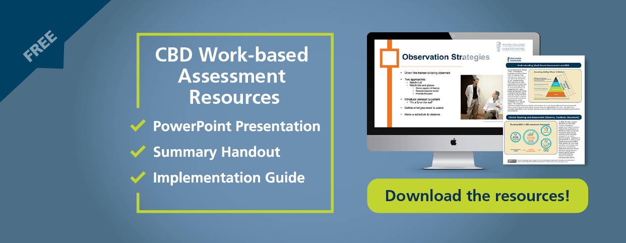 CBD Work-based Assessment Resources